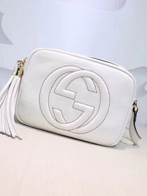 GG original calfskin leather shoulder bag 308364 white