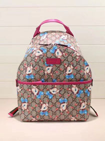 2018 GG original canvas fawns backpack 271327 rose red