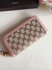 GG original canvas supreme wallet 307984 pink