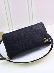 GG Marmont leather zip around wallet 428736 black
