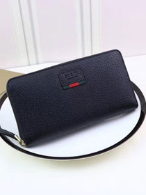 GG Marmont leather zip around wallet 435298 black