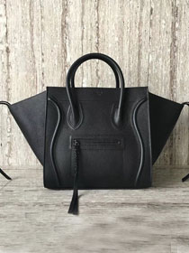 Celine original calfskin luggage phantom bag 9901-2 black