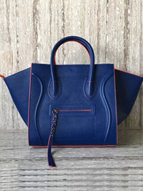 Celine original calfskin luggage phantom bag 9901-2 blue