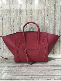 Celine original calfskin luggage phantom bag 9901-2 bordeaux
