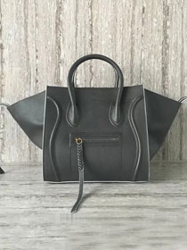 Celine original calfskin luggage phantom bag 9901-2 dark gray