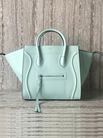 Celine original calfskin luggage phantom bag 9901-2 light green