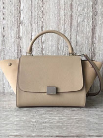 Celine original calfskin&suede medium trapeze bag 18701 apricot
