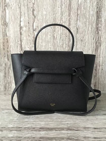Celine original grained calfskin mini belt bag 99970 black