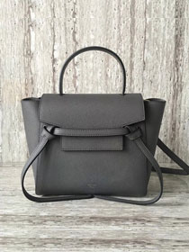 Celine original grained calfskin mini belt bag 99970 gray