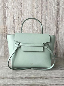 Celine original grained calfskin mini belt bag 99970 light green