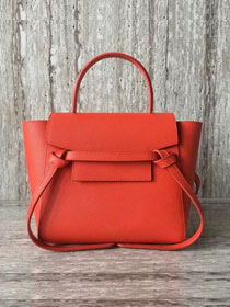 Celine original grained calfskin mini belt bag 99970 orange