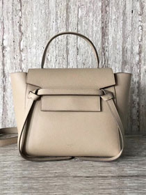 Celine original grained calfskin small belt bag 98310 apricot