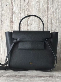 Celine original grained calfskin small belt bag 98310 black