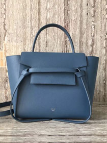 Celine original grained calfskin small belt bag 98310 blue