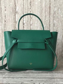 Celine original grained calfskin small belt bag 98310 green
