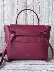 Celine original grained calfskin small belt bag 98310 purple