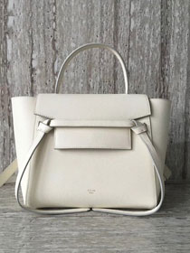 Celine original grained calfskin small belt bag 98310 beige