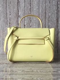 Celine original grained calfskin small belt bag 98310 light yellow