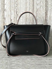 Celine original smooth calfskin small belt bag 98310 black