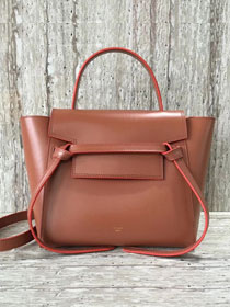 Celine original smooth calfskin small belt bag 98310 coffee