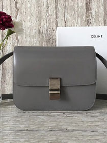 Celine original box calfskin large classic bag 11045 gray