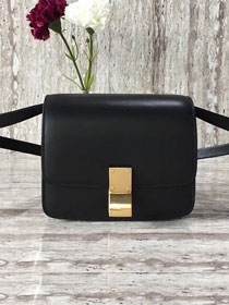 Celine original liege calfskin small classic bag 11041-1 black