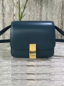 Celine original liege calfskin small classic bag 11041-1 dark blue