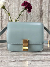 Celine original liege calfskin small classic bag 11041-1 light blue