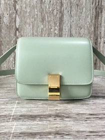 Celine original liege calfskin small classic bag 11041-1 light green