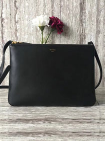 Celine original smooth lambskin large trio bag 55420 black