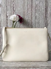 Celine original smooth lambskin large trio bag 55420 white