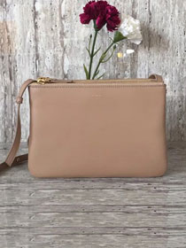 Celine original smooth lambskin small trio bag 55420 apricot