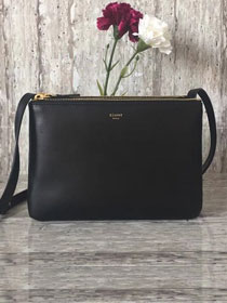 Celine original smooth lambskin small trio bag 55420 black