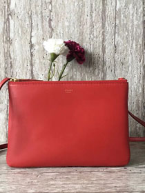 Celine original smooth lambskin small trio bag 55420 red