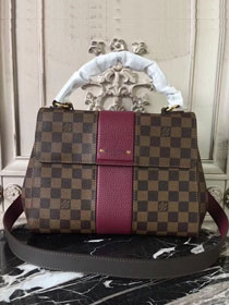 2018 louis vuitton damier ebene bond street BB N41073 burgundy