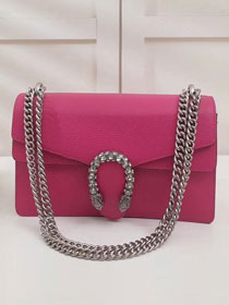 GG original leather dionysus small shoulder bag 400249 rose red