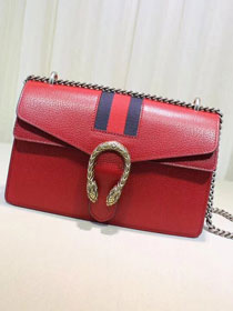 2018 GG dionysus original leather small shoulder bag 400249 red