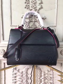 Louis vuitton original epi leather cluny BB M53364 black&rose red