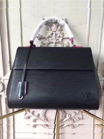 Louis vuitton original epi leather cluny MM M41302 black&rose red