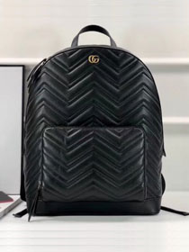2018 GG original calfskin Marmont matelasse backpack 523405 black