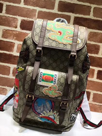 2018 GG original canvas soft supreme backpack 473869