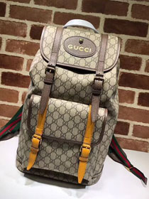 2018 GG original canvas soft supreme backpack 473869 coffee