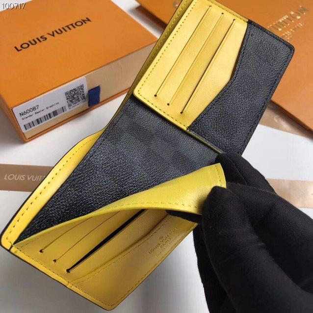 2cbd4ded8db Louis vuitton damier graphite slender wallet N60087 yellow
