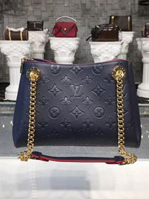 2018 louis vuitton original monogram empreinte leather surene BB M43750 navy blue