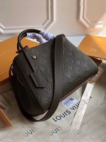 Louis vuitton original monogram empreinte montaigne pm M43661 blackish green