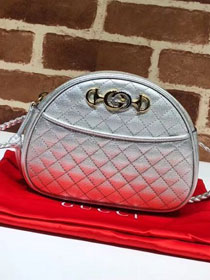 2018 GG original laminated leather mini bag 534951 silver