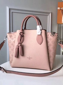 2018 louis vuitton original mahina leather haumea tote bag M55030 pink