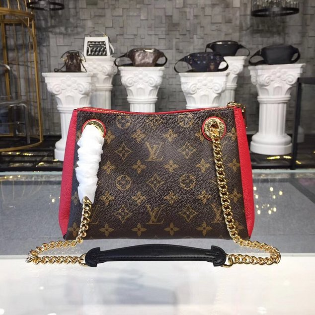 2018 louis vuitton original monogram canvas surene BB M43776 red