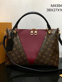 Louis vuitton original monogram v tote mm M43949 bordeaux