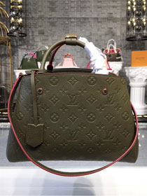 Louis vuitton original monogram empreinte montaigne mm M43660 blackish green